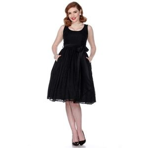 Bettie Page Esther Dress in Black